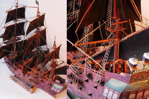 Maqueta 3D de la Perla Negra / Black Pearl. Manualidades a Raudales.