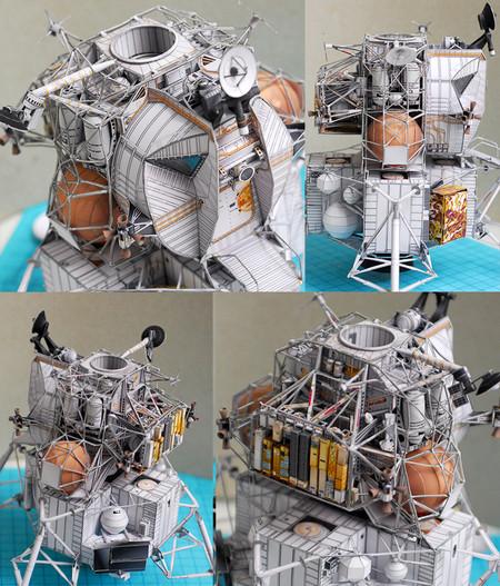 """LM apollo 13 """"squelette"""" en papier au 1/48 602x"""