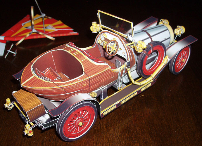 chitty chitty bang bang chiti chiti che paper model kit ebay. Black Bedroom Furniture Sets. Home Design Ideas